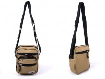 2570 KHAKI Small Unisex Polyester Bag with 5 Zips