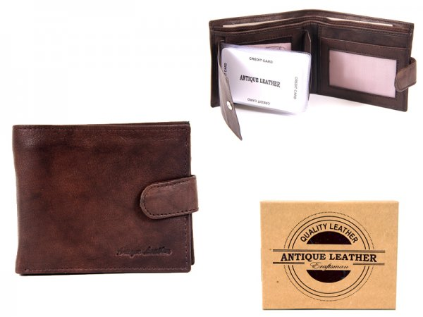 1010 BROWN ANTIQUE LEATHER WALLET