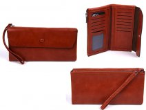 7148 TAN LARGE FLAPOVER STYLE PURSE RFID