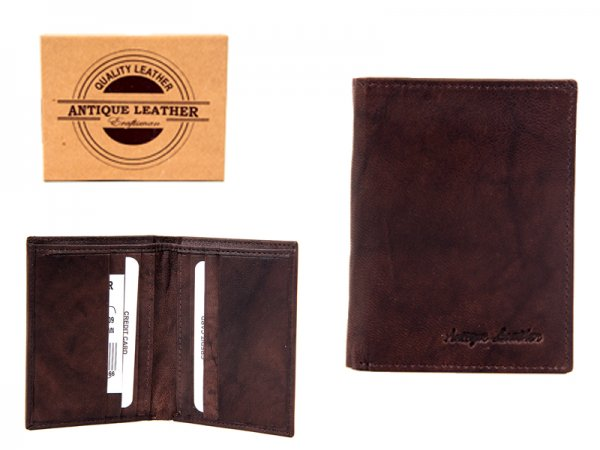 1009 BROWN ANTIQUE LEATHER RFID WALLET