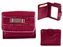 7427 RED Sml Sft Pu Purse with Wallet Sec & Trim