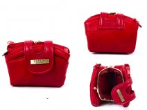 4613 RED DOUBLE ZIP PURSE WITH CENTRE FRAME TABOVER